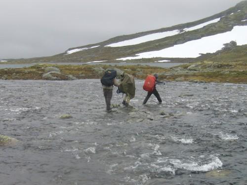 Flüsse und Altschneefelder