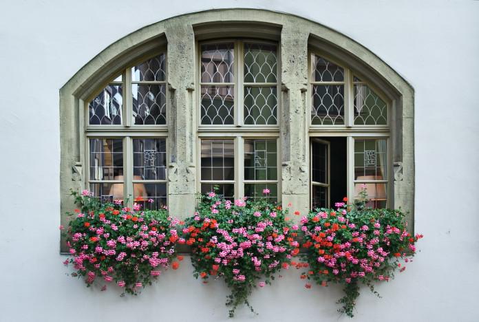 Windows in Regensburg, Germany