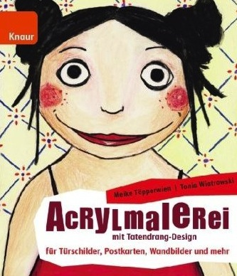 Acrylmalerei mit Tatendrang-Design