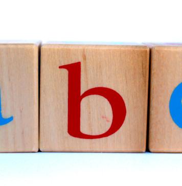 ABC Blocks on White