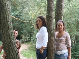 etnic family in the forrest