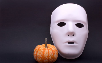Mask and pumpkin