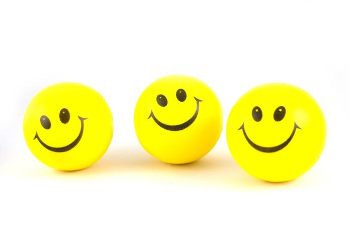 3 smiley balls