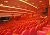 Auditorium interior in red colours
