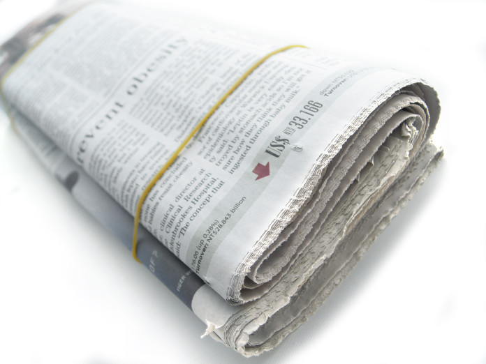 Zeitungs-Fangen