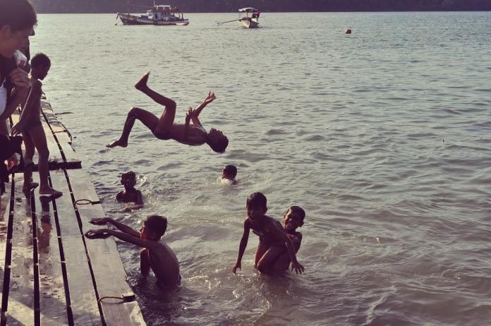 Völkerball im Wasser