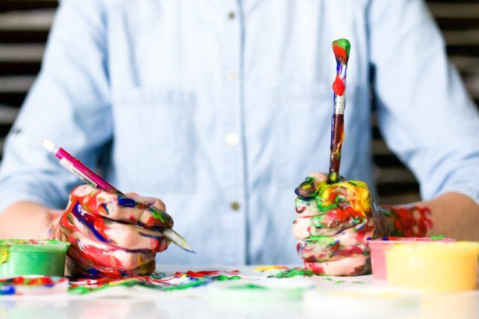 Fingerfarben selber machen