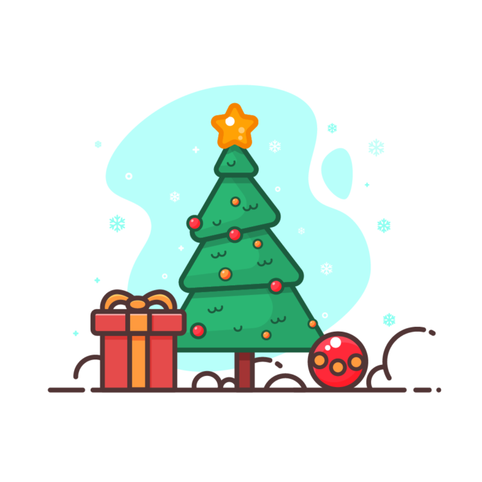Ausmalbild für Kinder: Weihnachten