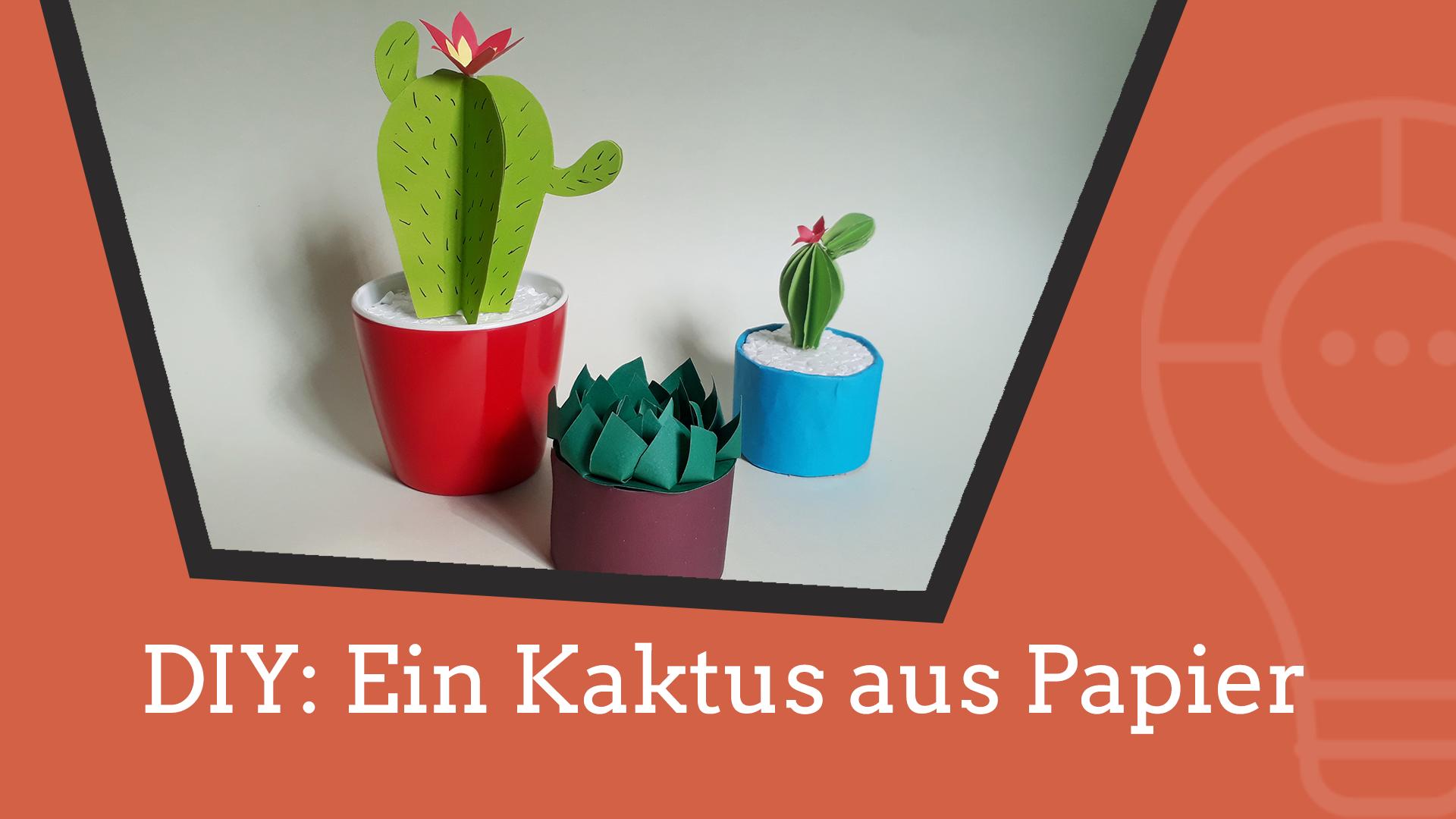 Video: Kaktus aus Papier basteln